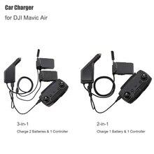 Araba şarjı DJI Mavic Hava Için Akıllı Pil şarj göbeği Mavic Hava Araba Konektörü USB Adaptörü Çoklu akülü araba Şarj Cihazı