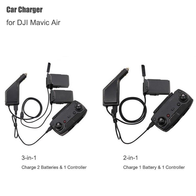 Cargador de coche para el Mavic de DJI aire inteligente de carga de la batería Centro Mavic aire conector de coche adaptador USB Multi cargador de batería del coche