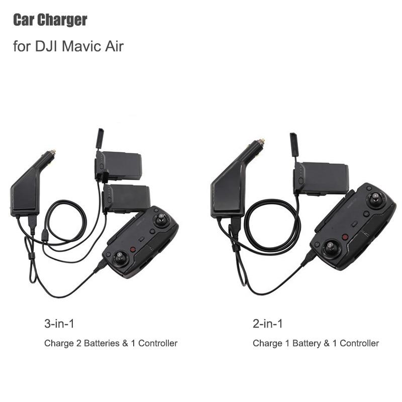 Cargador de coche para DJI Mavic Air cargador de batería inteligente Hub Mavic Air Car Connector adaptador USB Multi cargador de coche de batería