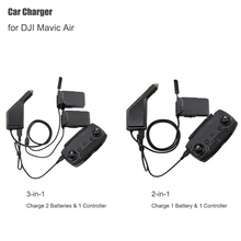 Chargeur de voiture pour DJI Mavic Air Intelligent moyeu de charge de batterie Mavic Air voiture connecteur USB adaptateur Multi batterie chargeur de voiture
