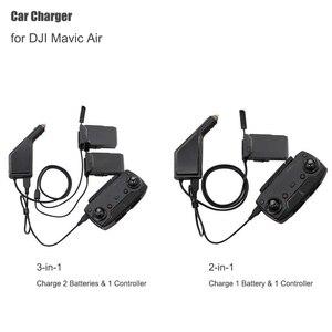 Image 1 - Dji mavic 공기 지능형 배터리 충전 허브에 대 한 자동차 충전기 mavic 공기 자동차 커넥터 usb 어댑터 멀티 배터리 자동차 충전기