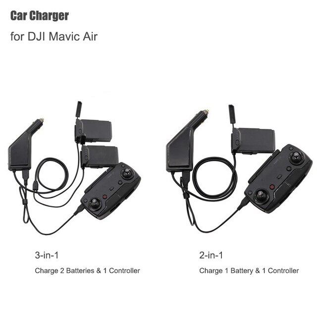 Dji mavic 공기 지능형 배터리 충전 허브에 대 한 자동차 충전기 mavic 공기 자동차 커넥터 usb 어댑터 멀티 배터리 자동차 충전기