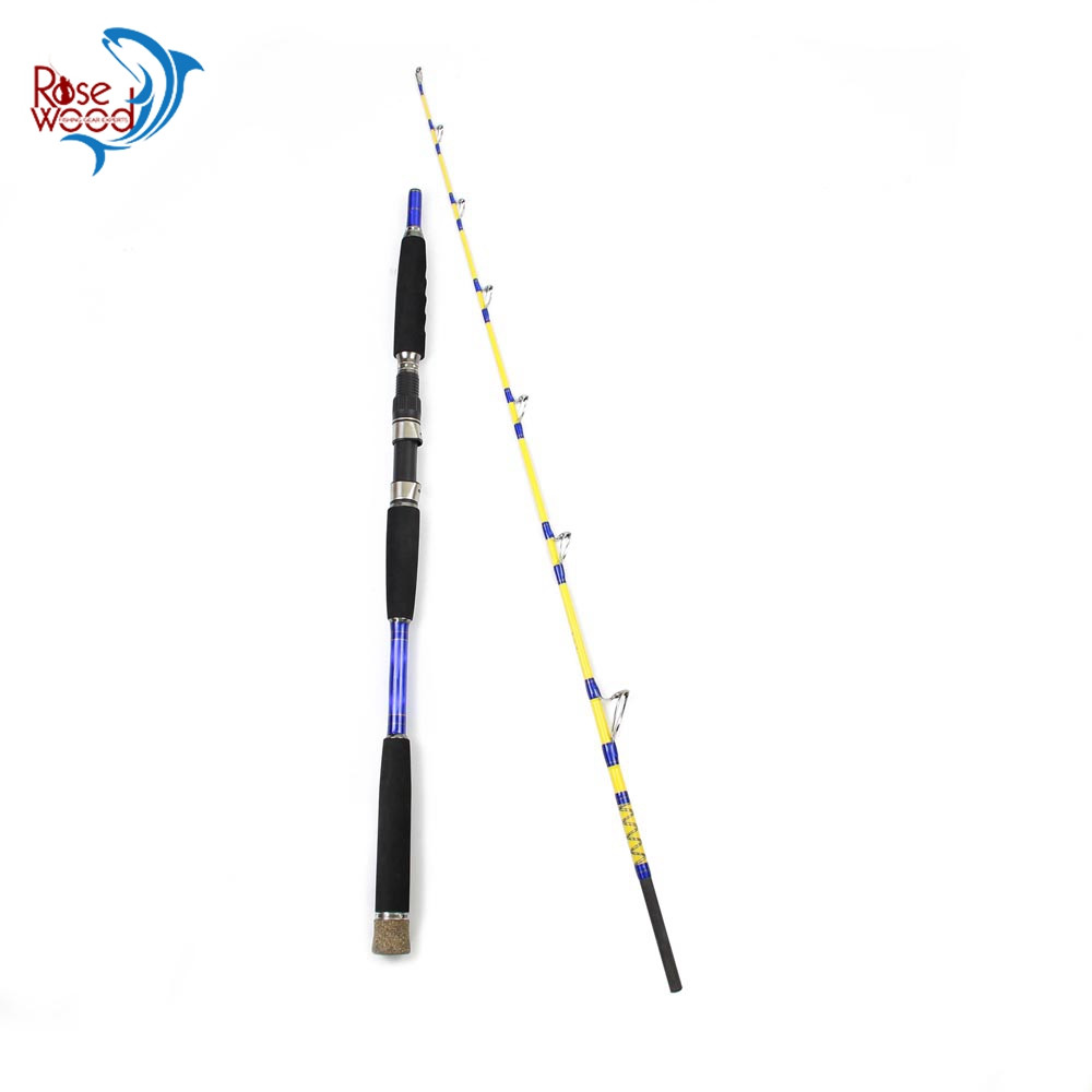 Portable Saltwater Offshore Extra Heavy 2-Piece Travel Spinning Rod Conventional Boat Jigging Fishing Rod 1.6m 1.7m