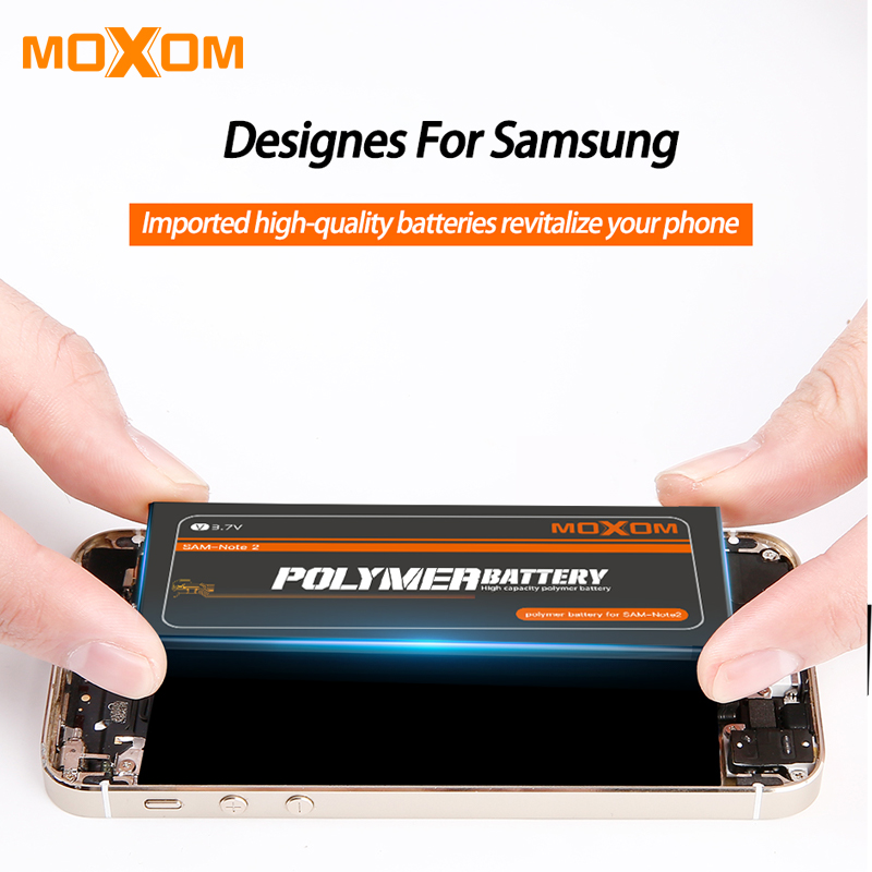 2019 New MOXOM Battery For Samsung Galaxy S6 S7 S6 Edge S7 Edge S5 G900S SM G9200 SM G9280 SM G9300 SM G9350 Replacement Battery in Mobile Phone Batteries from Cellphones Telecommunications