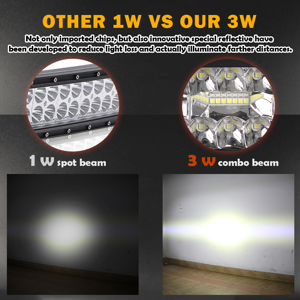 "Image 5 - CO LIGHT 22"" 32"" 42"" Offroad 4x4 Led Bar 3 Rows Spot Flood Led Light Bar 12V 24V 390W 585W 780W Work Lights for Tractor Jeep ATV-in Light Bar/Work Light from Automobiles & Motorcycles"