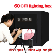 Free Shipping Photography Equipment Folding Mini LED Light Box 60cm Softbox for Photo Studio Accessories