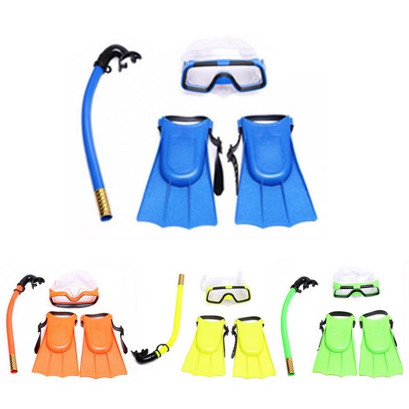 Loozykit niño máscara de buceo gafas de tres piezas traje de natación snorkel traje de deportes de agua natación equipo de buceo