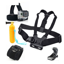 GoPro Accessories Kits Hand Chest Head Strap with Float Bobber for GoPro Hero 4 3 2 HERO5 Session SJ SJCAM SJ4000 Xiaomi Yi 4K