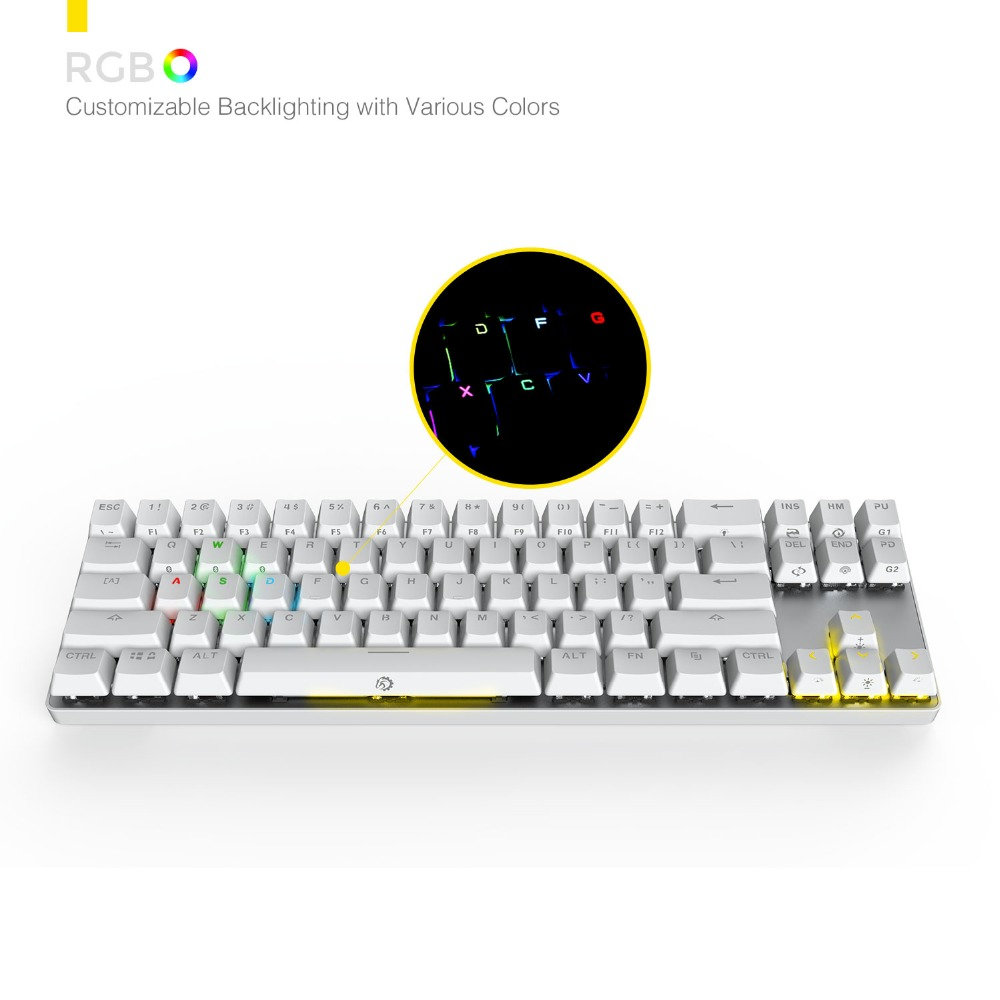 a3cded09c90 DREVO Calibur 71 Keys Gaming Mechanical Keyboard Wireless Bluetooth 4.0  Edition with RGB Backlight for Tablet Desktop -in Keyboards from Computer &  Office ...