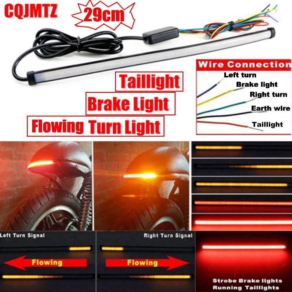 290mm Moto S'exécutant De Frein Phare arrière Clignotants LED Intégré Feu Stop Bande