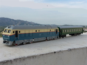 Image 5 - גבוהה סימולציה רכבת, 1: 87 קנה מידה סגסוגת למשוך בחזרה Dongfeng רכבת זוגית, מרכבה, קרוואן, cars צעצוע, משלוח חינם