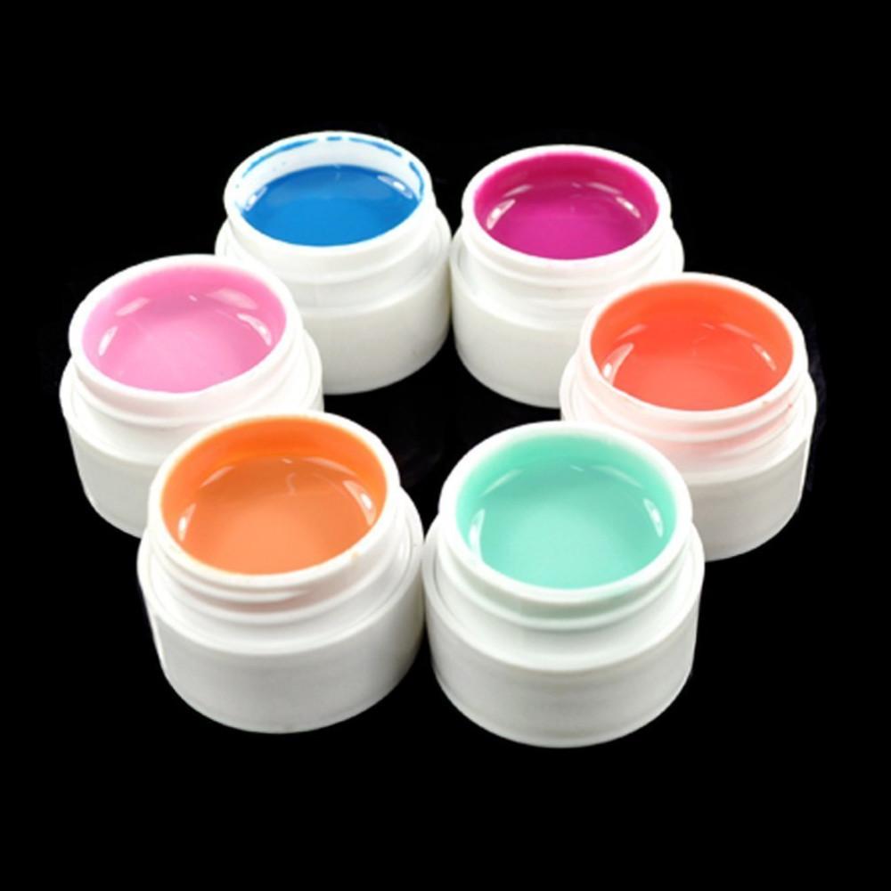 36 цветов твердые чистый микс цвета уф-строитель гель акриловые комплект для ногтей советы