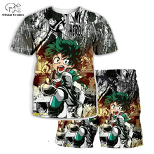 PLstar Cosmos Summer T Shirts Anime Printed My Hero Academia 3D T-Shirt and shorts Mens for boy Suit plus size XS-7XL MHA-2 plstar cosmos brand boku no hero my hero academia 3d print hoodie sweatshirt tee tops plus size xs 7xl