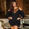 7XL Más Tamaño Lencería Sexy ropa Suelta Womans Camisón de Encaje de Seda del Camisón de Las Señoras ropa de Dormir
