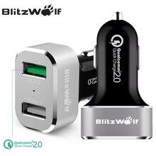 Blitzwolf bw-c6 qc2.0 Quick Charge 2.0 двойной Порты и разъёмы USB Автомобильное Зарядное устройство Универсальный мобильный телефон автомобиль Зарядное устройство 30 Вт для samsung для iPhone 7