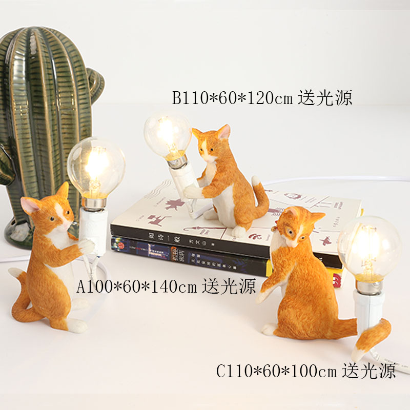 Nordic Animals Table Lamp Childrens Bedroom Resin Cat Lamps Table Restaurant Bar Table Light Industrial Decor Lighting FixturesNordic Animals Table Lamp Childrens Bedroom Resin Cat Lamps Table Restaurant Bar Table Light Industrial Decor Lighting Fixtures