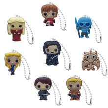 1pcs Game of Thrones Bag Parts&Accessories Hot Movie Figure PVC Charm Ball Chain DIY Craft Keychain Bag Straps Kids Gift(China)