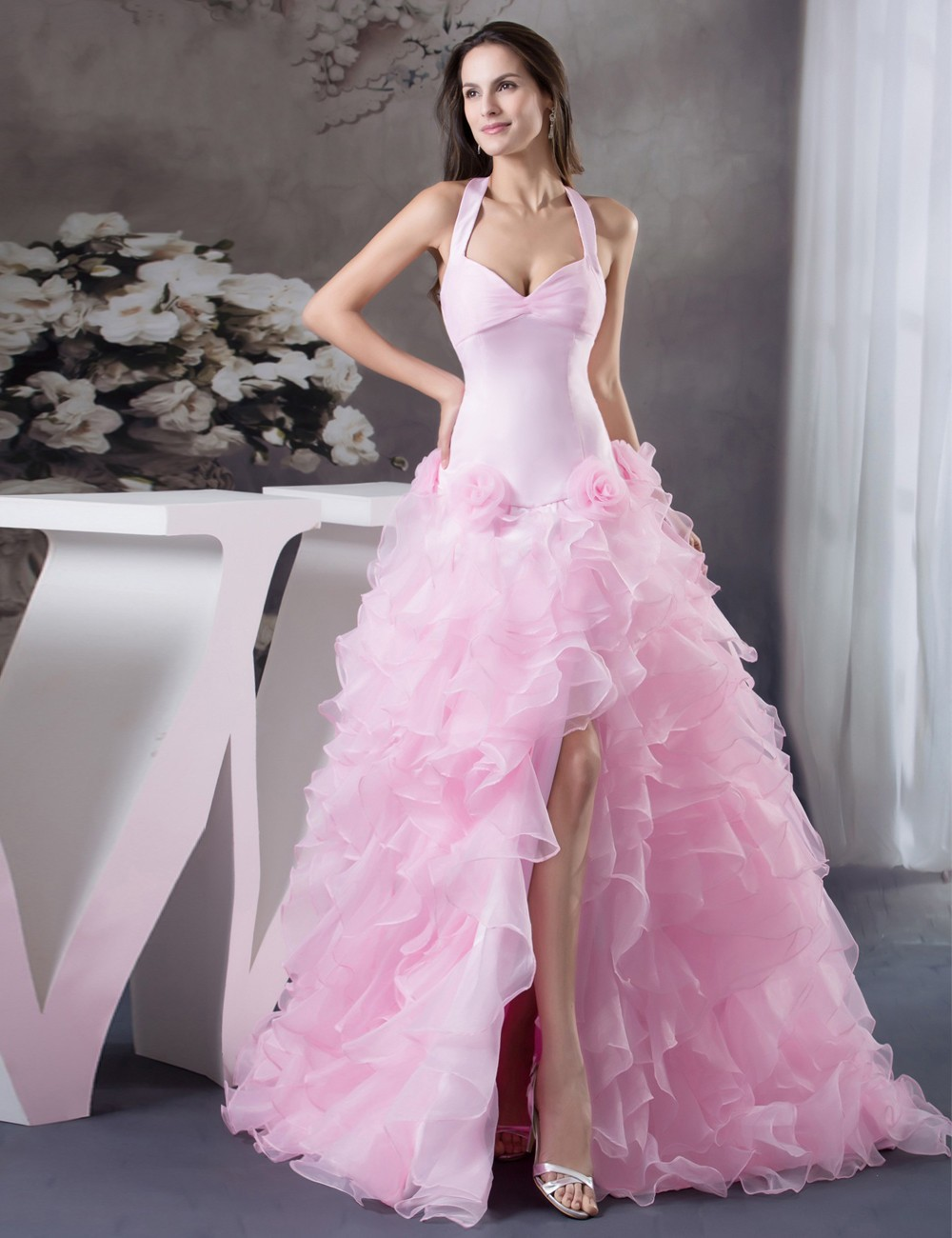 Halter And High Low Wedding Dresses