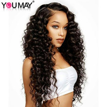 180% Density Silk Base Pre Plucked Full Lace Human Hair Wigs Brazilian Deep Wave Full lace Wigs With Baby Hair You May Remy Hair