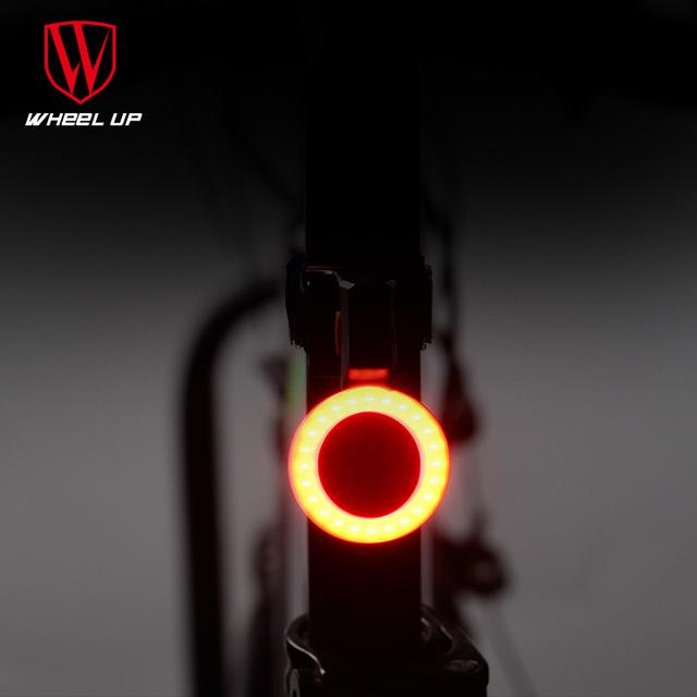 Bike Light Round&LovingTaillight Usb Highlighted Waterproof Mountain bicycle rear lights Tail Lamp Cycling Equipments Velofonar