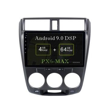 "KOOCAVS 10.2"" IPS Android 9.0 Car GPS Radio Player for Honda City 2008 2009 2010 2011 with 4GB+64GB Stereo Multimedia Headunit"