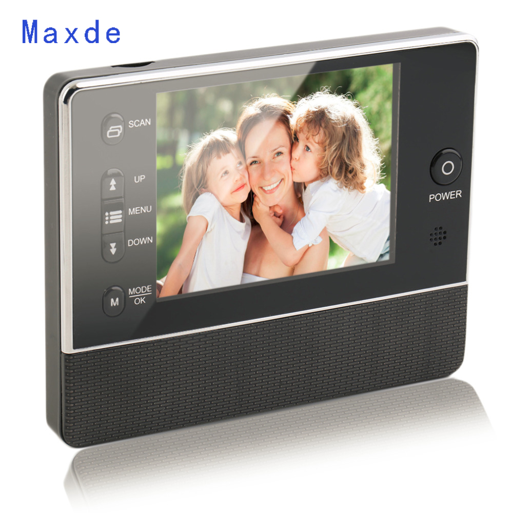 Maxde eBell 3.5 TFT LCD Screen Digital Eye Viewer Video Surveillance Doorphone Monitor Speaker  Intercom Home Security Doorbell aputure vs 1 v screen digital video monitor