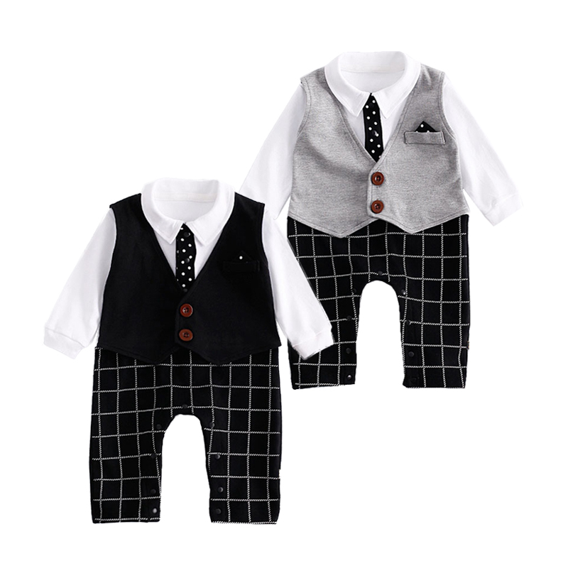 New Baby Clothes Gentleman Rompers Toddler Baby Boy Clothes Newborn Infant Long Sleeve Jumpsuits Autumn Bebes Infantil Clothing стоимость