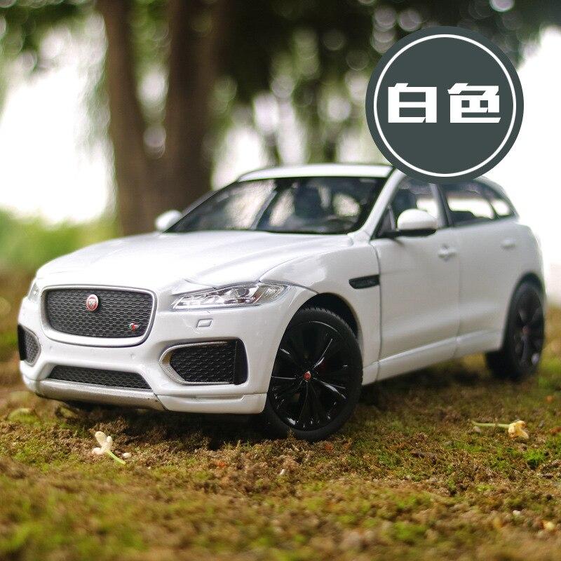 Welly 1:24 Simulation alliage moulé sous pression Suv voiture modèle jouets pour Jaguar f-pace avec volant contrôle jouet pour enfants avec boîte