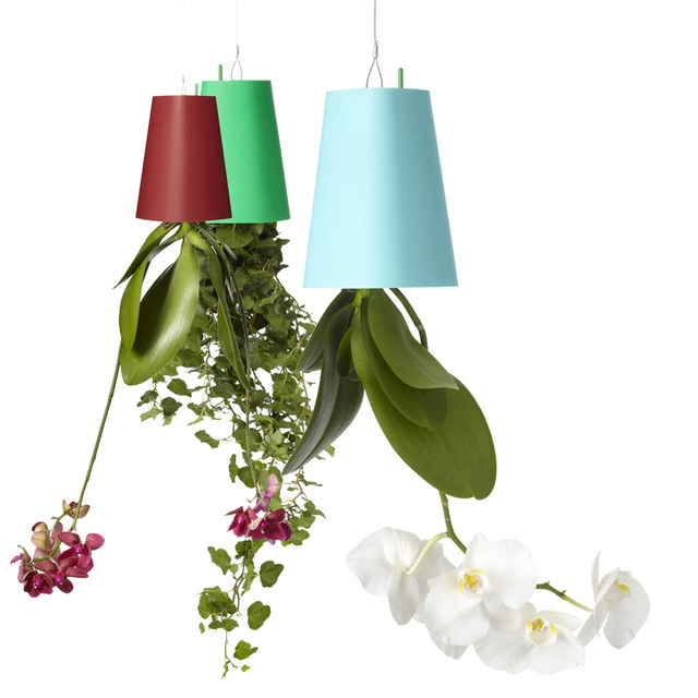 225 & US $17.09 5% OFF|1 Piece 190*135*135mm Large Plastic Hanging Planter 7 Colors Decorative Upside Down Flower Pot Planter for Indoor Decoration-in ...