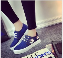 Spring/summer Newest canvas shoes women washed denim cloth shoes leisure single low help women's cloth shoes with students