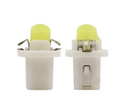100X T5 B8.5D 1 COB LED Light Bulb Lamp T5 B8.5D B8.5D Socket COB 1 COB LED Car Dashboard Warning Lights
