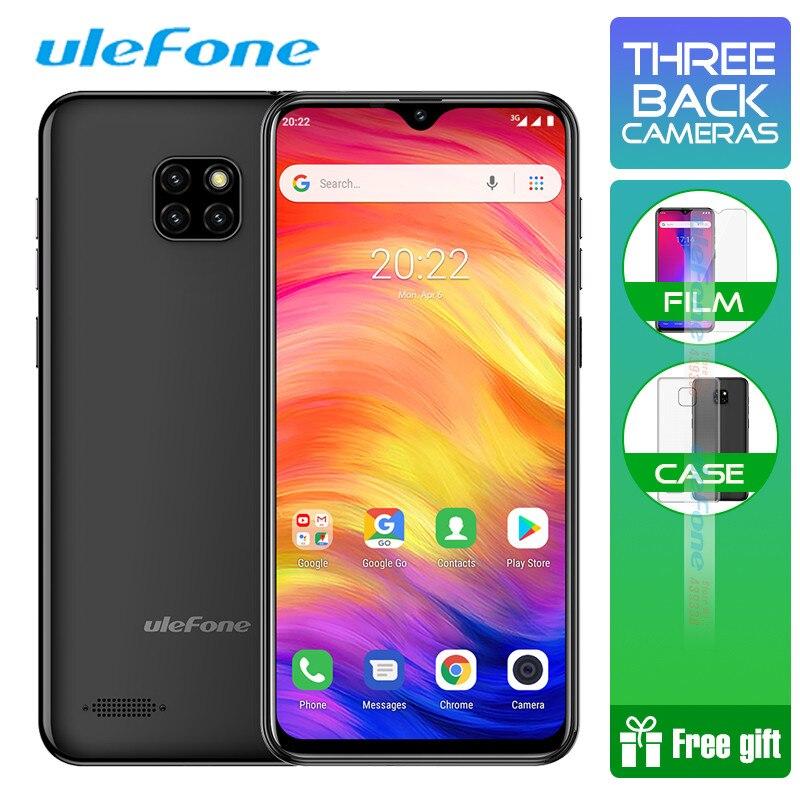 Ulefone Note 7 Smartphone 6.1 pouces 1 GB RAM 16 GB ROM MT6580A Quad Core 3500 mAh Face ID trois caméras arrière Android GO téléphone portable