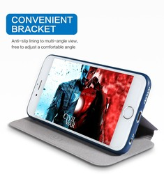 X-Level Ultra Thin Leather Flip Phone Case For iPhone 6 Case iPhone 8 7 Plus Stand Holder Protectiv Cover For iPhone X XS Max XR 5