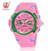 OHSEN Children Sport Watches Military Fashion Kids Quartz Led Display Digital Watch Boys And Girls Wristwatches