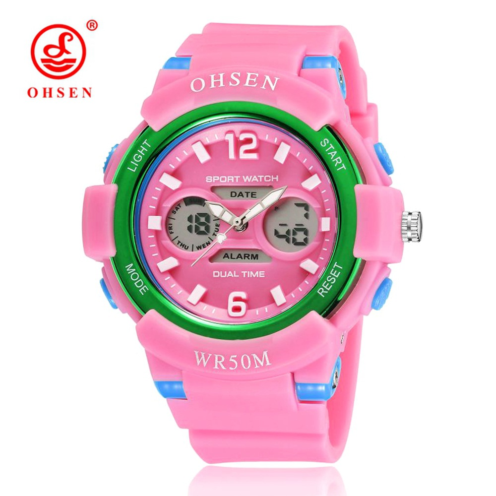 Watches Nice Ohsen Child Led Digital Sport Watch Unisex Wristwatch Fashion Kids Water Shock Resistant Alarm Student Rose Red Clock Kids Gifts Buy Now
