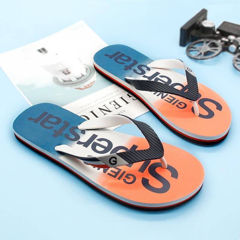 Gienig 2018 nyári férfi flip flops gumi csúszásmentes strand - Férfi cipők