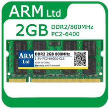 DDR2 800Mhz 2GB PC2-6400 200pin memory for Laptop RAM 2G Notebook Module SODIMM RAMs Compatible with all motherboard