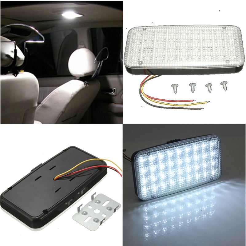 цена на White 12V 36 LED Car Truck Auto Van Vehicle Ceiling Dome Indoor Roof Interior Light Lamp DC Universal Car Styling
