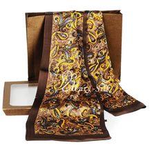 Станет желанным подарком для друзей! Мужской длинный шарф из шелка; галстук; Scarives; слой-для весны, осени и зимы