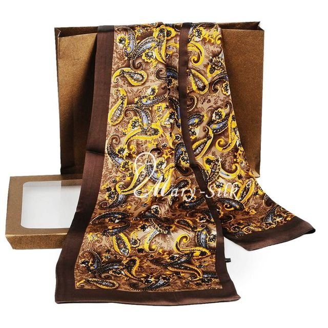 Great   Gift!  Mens 100% Silk  Long  Scarf  Cravat  Scarives  Layer — For Spring  Autumn Winter
