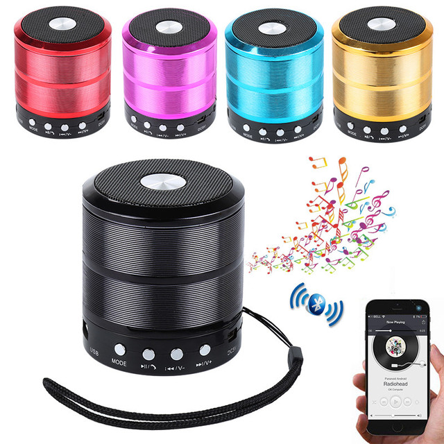 Ws887 Wireless Mini Bluetooth Speaker Portable Stereo Music Speaker