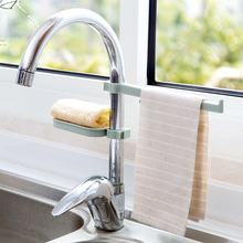 Faucet drain rack pool storage kitchen supplies sink sponge rag combination