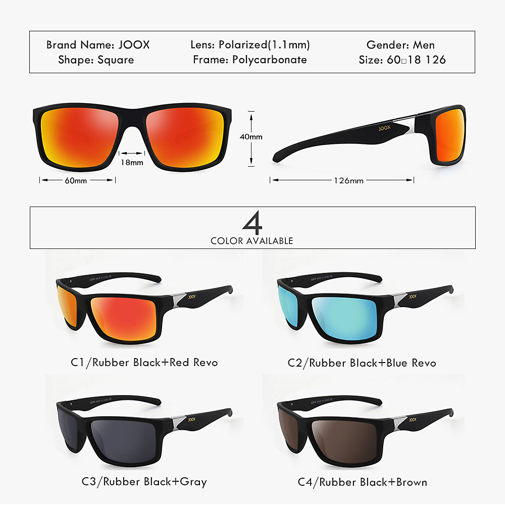 Image 5 - 2019 New Men Polarized Sunglasses 1.1mm Thicken Lens Fashion Brand Outdoor Sunglasses for Men Elastic Rubber Paint Smooth Frame-in Men's Sunglasses from Apparel Accessories on AliExpress
