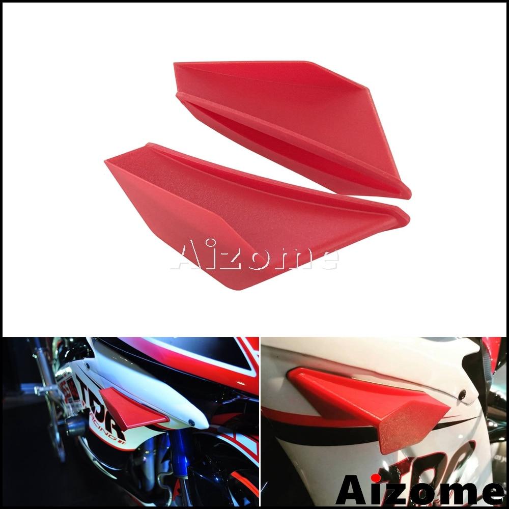 Motorcycle Winglet Aerodynamic Red Wing Kit Spoiler For Yamaha Suzuki Kawasaki Honda Nmax Aerox 155 PCX Vario CBR Scooter