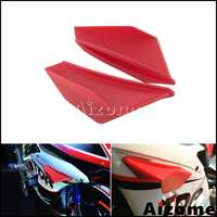 Motorrad Winglet Aerodynamische Red Wing Kit Spoiler Für Yamaha Suzuki Kawasaki Honda Nmax Aerox 155 PCX Vario CBR Roller