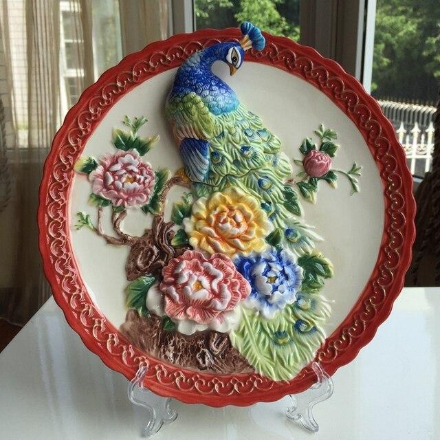 Decorative Dish Fascinating 3D Decorative Wall Hanging Ceramic Dish Home & Garden Furnishing 2017