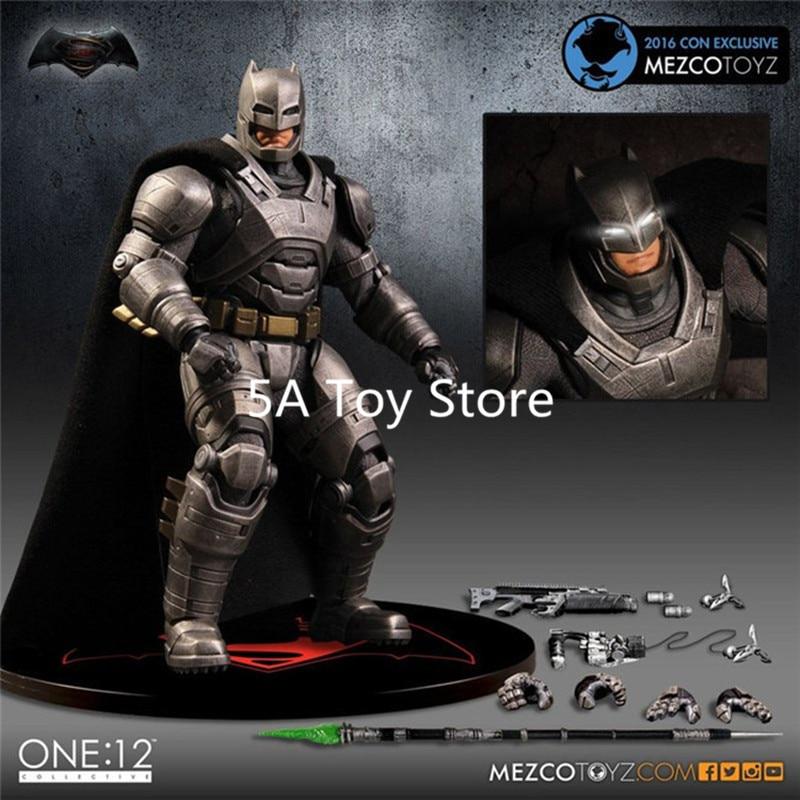 Mezco Marvel Super Hero Batman Ver One:12 Collective BJD Figure Toys 16cm Retial Box