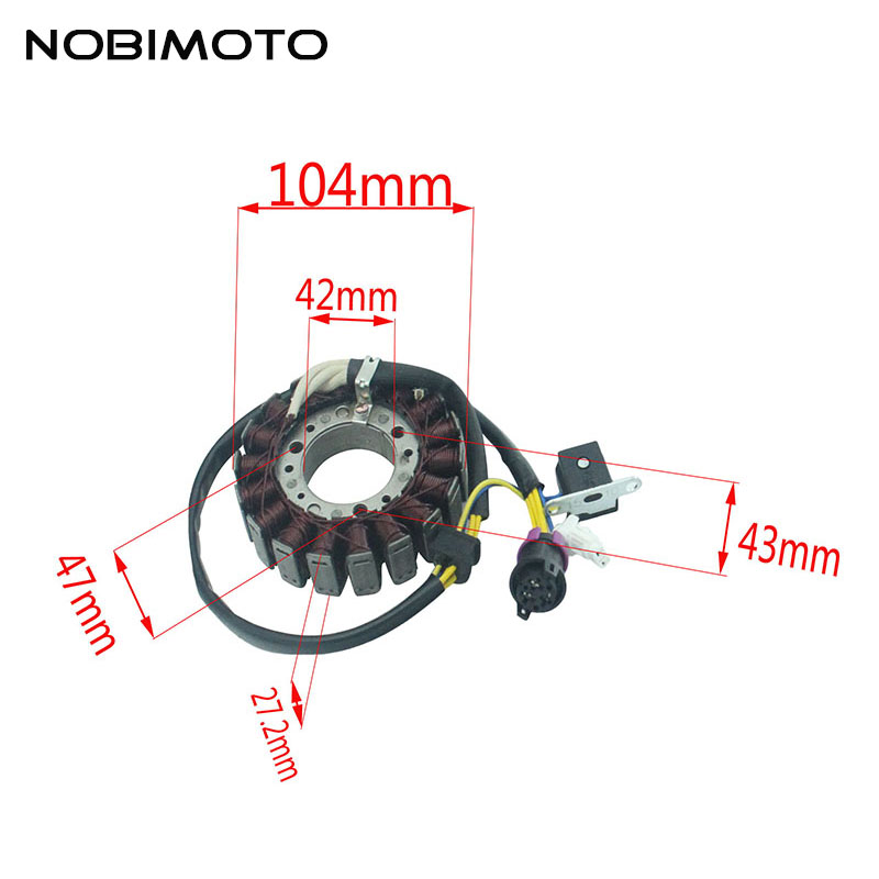 Motorcycle Generator Magneto Stator Coil Comp Fit For Linhai 250CC 300CC Feishen 250CC 300CC Moto Scooter ATV Engines CQ-168 Motorcycle Generator Magneto Stator Coil Comp Fit For Linhai 250CC 300CC Feishen 250CC 300CC Moto Scooter ATV Engines CQ-168