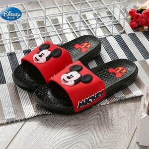 2019 nouvelles dames cool sandales disney pantoufles anti-dérapant porter des pantoufles hommes Mickey couple pantoufles taille 36-40(China)