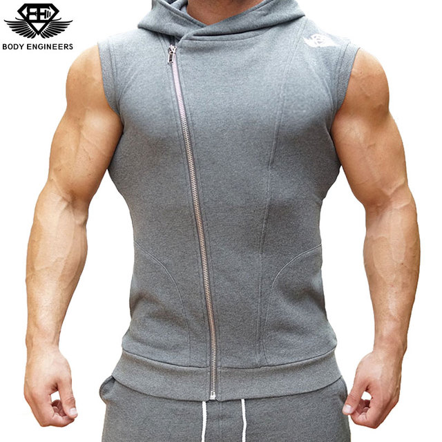 Body engineers 2017 men's tight muscle gyms casual sleeveless ...